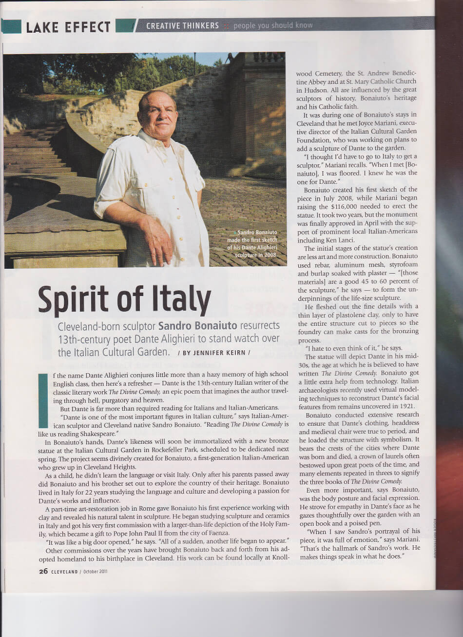 Spirit of Italy - Cleveland Magazine article